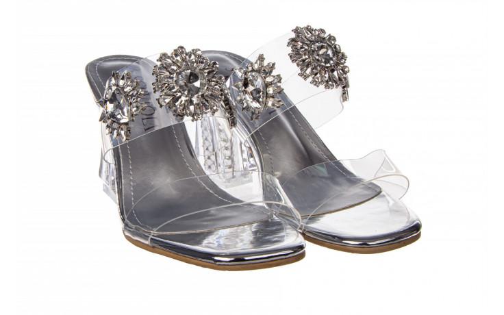 Klapki sca'viola g-58 silver 047188, srebro, silikon  - klapki - buty damskie - kobieta 1