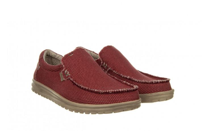 Półbuty heydude mikka braided pompeian red 003215, czerwony, materiał  - nowości 1