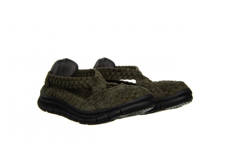 Półbuty rock berta moss cashmere 032815, zielony, materiał - dla niej  - sale 1
