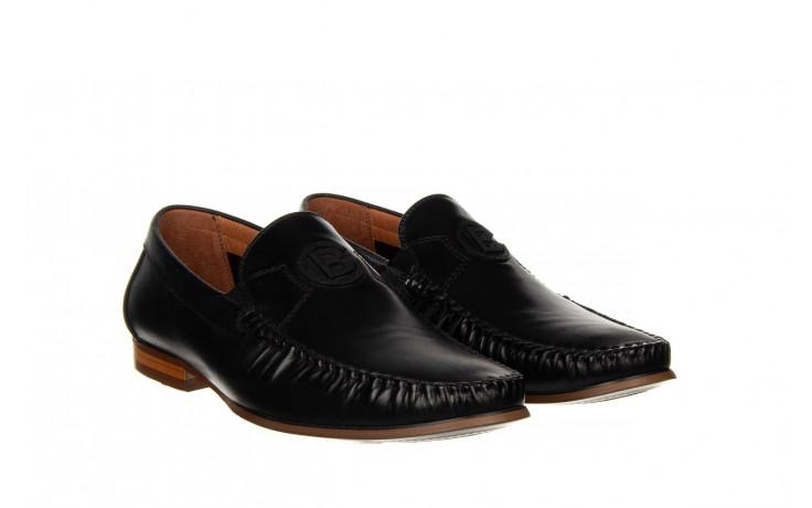 Mokasyny john doubare ygc-z2154-301-10 black 104174, czarny, skóra naturalna  - mokasyny i espadryle - buty męskie - mężczyzna 1