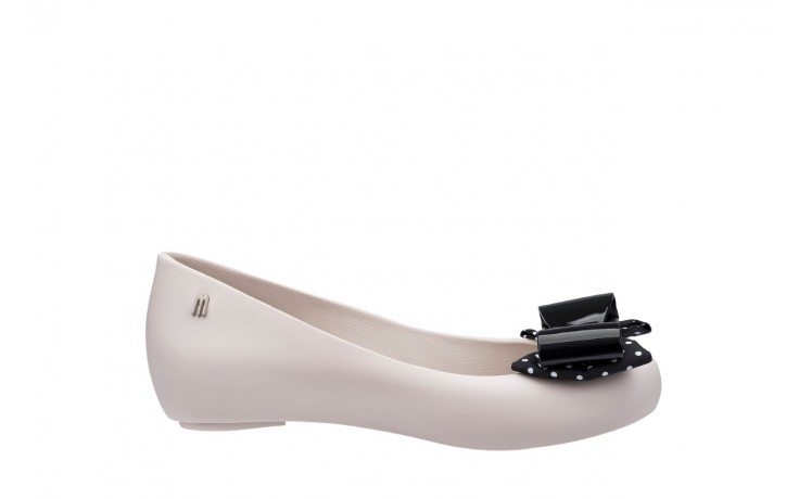 Baleriny melissa ultragirl minnie iv ad beige black, biały/ czarny, guma  - melissa - nasze marki