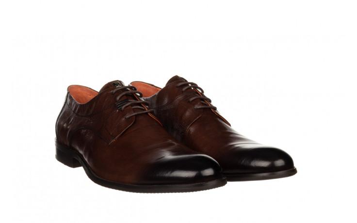 Półbuty john doubare q13e-s45-a77 coffee 104171, brąz, skóra naturalna  - wizytowe - półbuty - buty męskie - mężczyzna 1