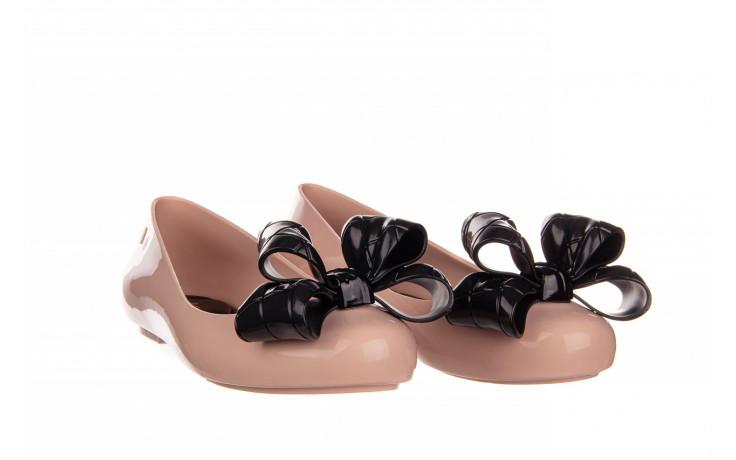 Baleriny melissa sweet love iv ad pink black 010371, róż, guma  - baleriny - melissa - nasze marki 1