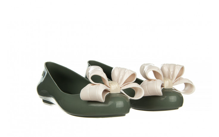 Baleriny melissa sweet love iv ad green beige 010370, zielony, guma 1