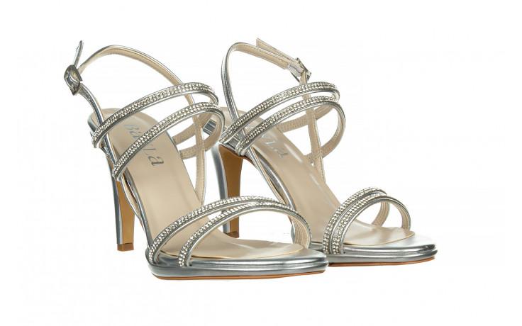 Sandały bayla-187 587-1120 silver 187016, srebro, skóra ekologiczna  - sandały - buty damskie - kobieta 1