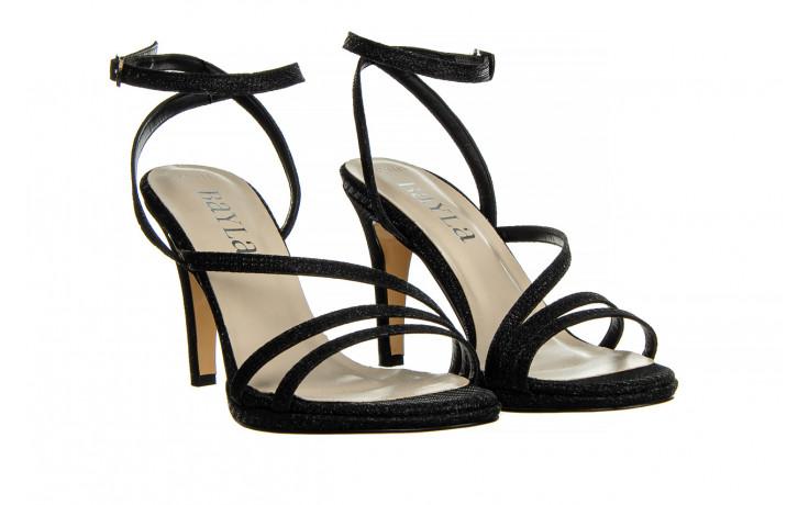 Sandały bayla-187 587-1115 black 187015, czarny, skóra ekologiczna  - sandały - buty damskie - kobieta 1