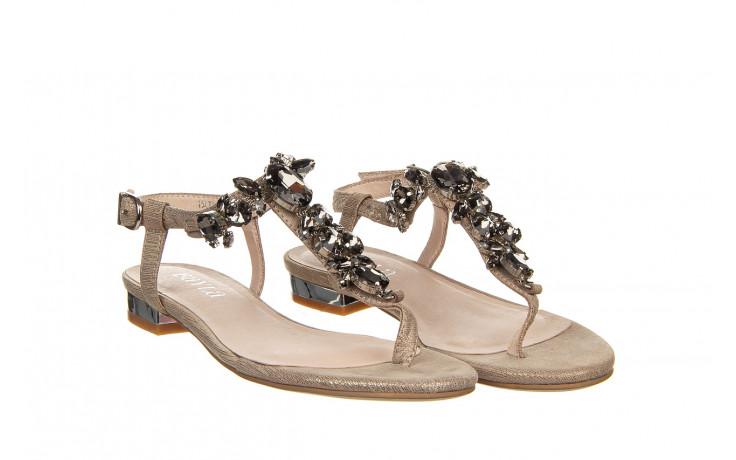 Sandały bayla-018 15472-x2 light grey, szary, skóra naturalna  - bayla - nasze marki 1