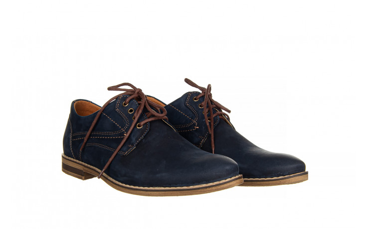 Półbuty bayla-081 831 juma blue ax, granat, skóra naturalna  - wizytowe - półbuty - buty męskie - mężczyzna 1