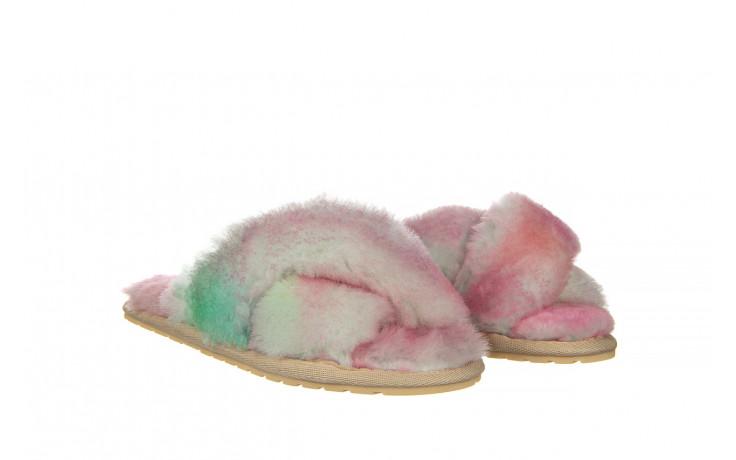 Kapcie emu mayberry tie dye fairly floss 119137, róż, futro naturalne  - nowości 1