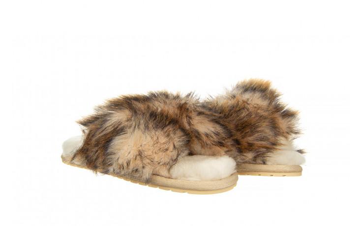 Kapcie emu mayberry lava chestnut 119134, beż, futro naturalne  - trendy - kobieta 1
