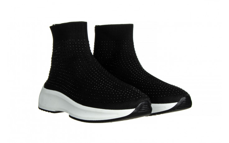 Sneakersy sca'viola l-15 black 047194, czarny, materiał - trendy - kobieta 1