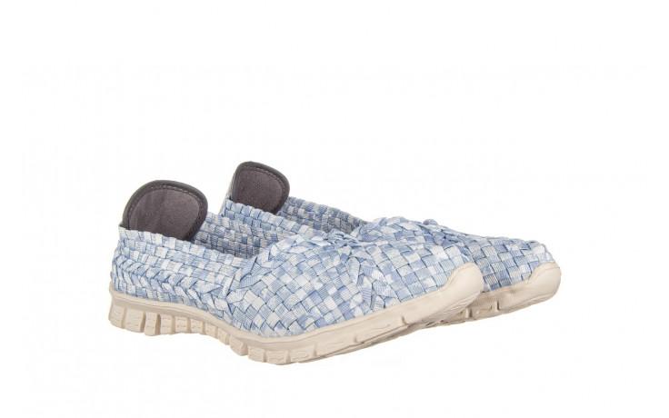 Półbuty rock carioca perena blue smoke 032826, niebieski/ biały, materiał - wsuwane - półbuty - buty damskie - kobieta 1