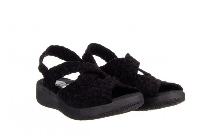 Sandały rock minily black cashmere 032847, czarny, materiał  - rock - nasze marki 1