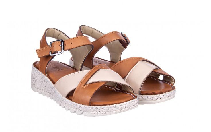 Sandały bayla-161 016 981 beige coconut 161197, brąz/ beż, skóra naturalna  - bayla - nasze marki 1