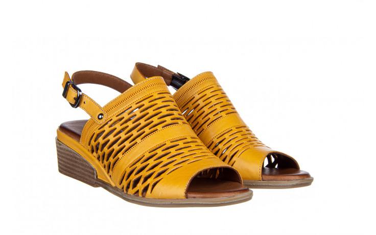 Sandały bayla-161 061 1600 noce 161200, żółty, skóra naturalna  - bayla - nasze marki 1