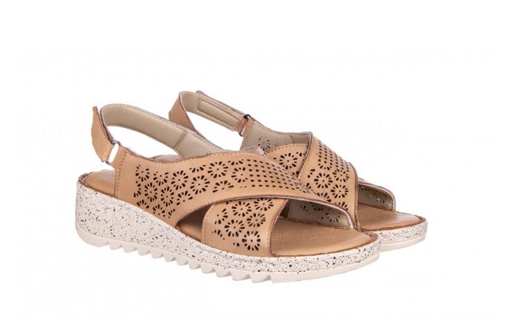 Sandały bayla-161 016 921 cappuccino 161192, brąz, skóra naturalna - sandały - buty damskie - kobieta 1