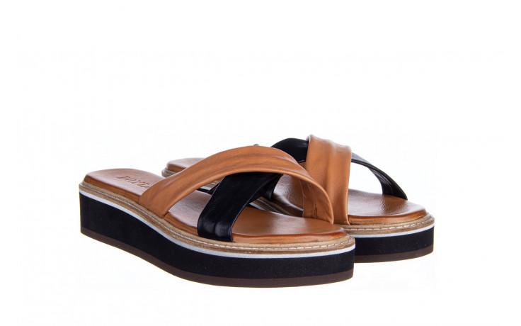 Klapki bayla-161 105 6004 black tan 161214, czarny/ brąz, skóra naturalna  - klapki - buty damskie - kobieta 1