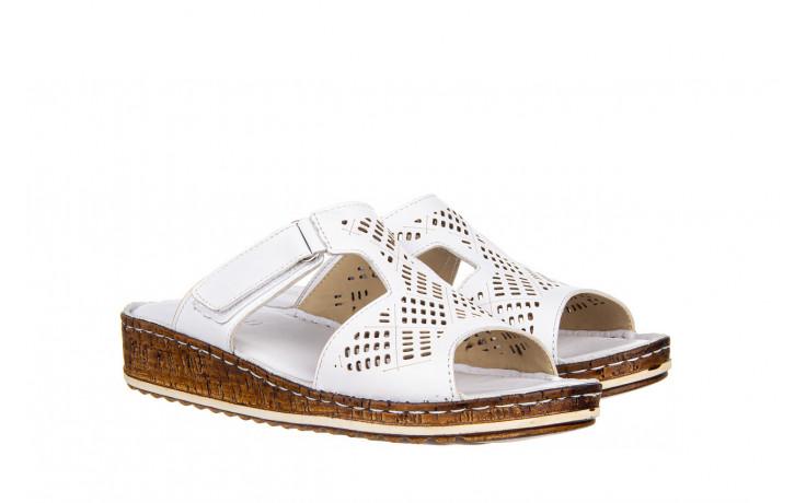 Klapki bayla-161 016 460 white 161189, biały, skóra naturalna  - bayla - nasze marki 1