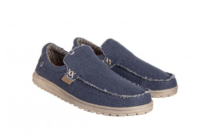 Półbuty heydude mikka braided deep blue 003196, granat, materiał - buty męskie - mężczyzna 1