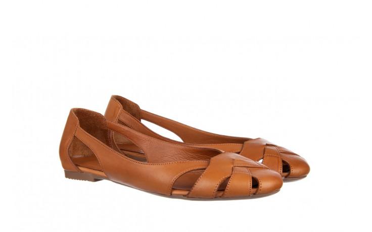 Baleriny bayla-161 093 6047 coconut 161209, brąz, skóra naturalna  - skórzane - baleriny - buty damskie - kobieta 1