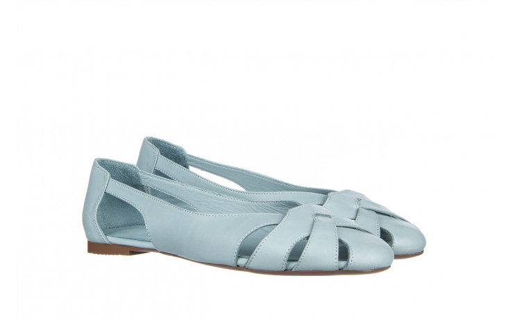 Baleriny bayla-161 138 1560 fresh 161220, niebieski, skóra naturalna - skórzane - baleriny - buty damskie - kobieta 1
