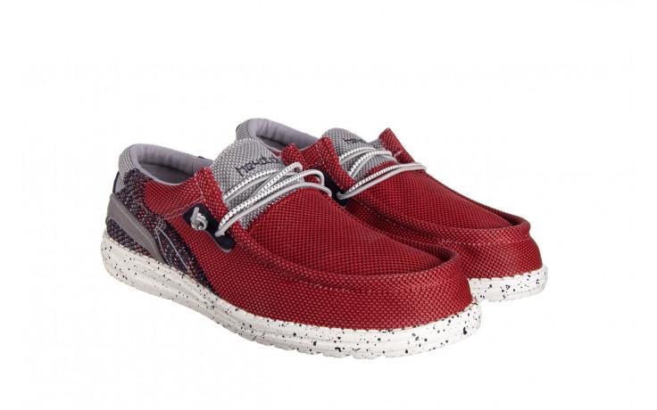 Półbuty heydude wally hawk lava grey 003200, czerwony, materiał - trendy - mężczyzna 1