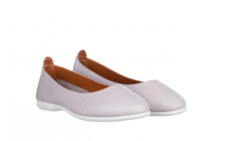 Baleriny bayla-161 059 f007 34 silver grey 161230, beż, skóra naturalna  - skórzane - baleriny - buty damskie - kobieta 1