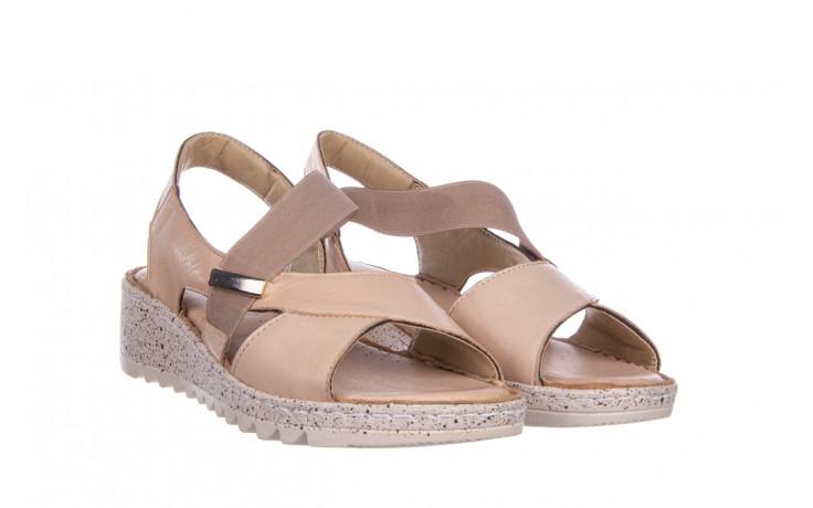 Sandały bayla-161 016 901 beige 161190, beż, skóra naturalna 1