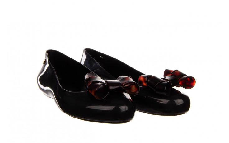Baleriny melissa sweet love iii ad black tortoise 010353, czarny, guma  - gumowe - baleriny - buty damskie - kobieta 1