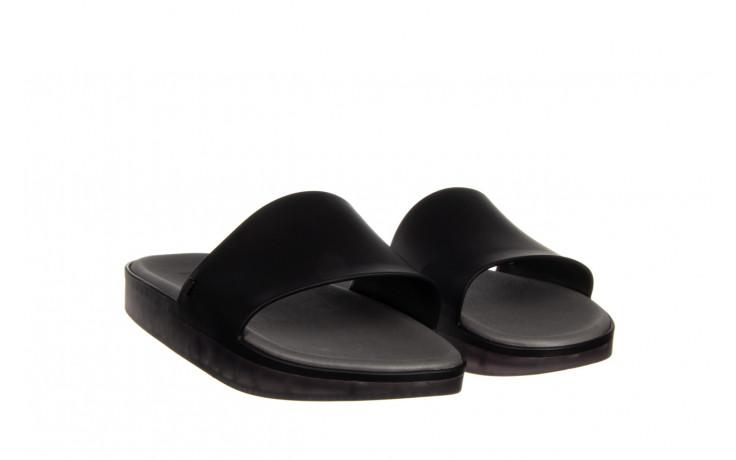 Klapki melissa beach slide next gen ad matte black smoke 010338, czarny, guma - klapki - buty damskie - kobieta 1