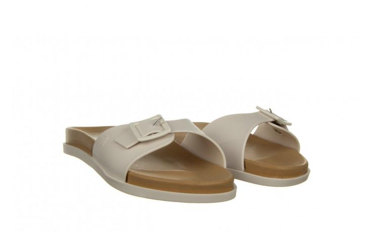 Klapki melissa wide slide ad white beige 010367, biały, guma - nowości 1