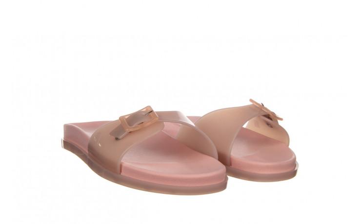 Klapki melissa wide slide ad soft pink pink transparent 010360, róż, guma - klapki - buty damskie - kobieta 1
