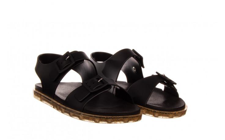 Sandały melissa wide sandal ad black rice husk 010358, czarny, guma - nowości 1