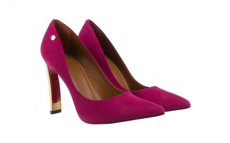 Szpilki bayla-067 118706l purpurowe, skóra naturalna - kolekcja ślubna - trendy - kobieta 1