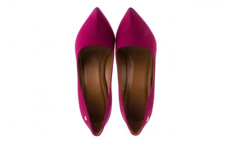 Szpilki bayla-067 118706l purpurowe, skóra naturalna - kolekcja ślubna - trendy - kobieta 4