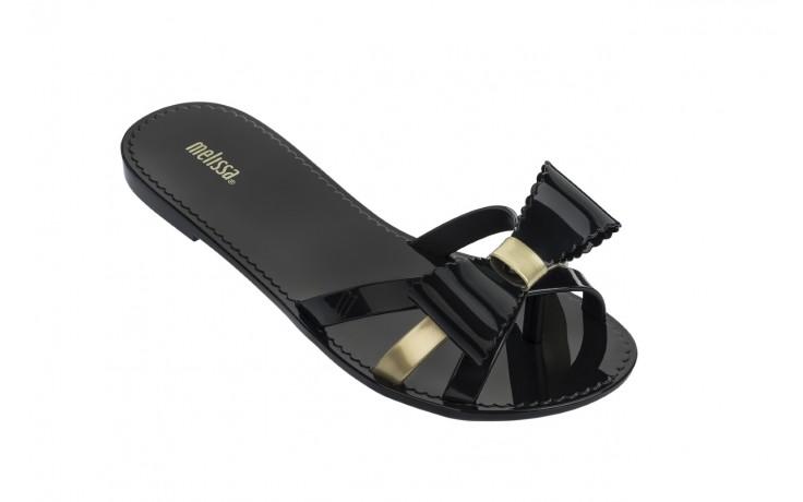 Klapki melissa fluffy ii ad black gold, złoty/czarny, guma - japonki - klapki - buty damskie - kobieta 1