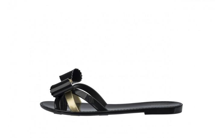Klapki melissa fluffy ii ad black gold, złoty/czarny, guma - japonki - klapki - buty damskie - kobieta 2
