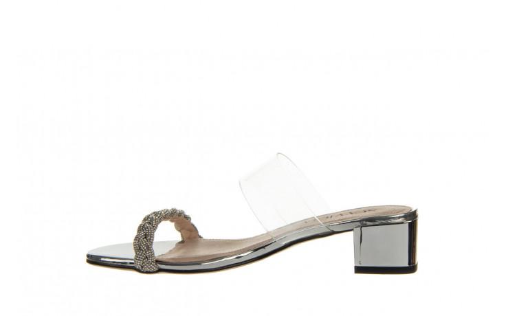 Klapki sca'viola b-205 silver 047180, srebro, silikon - klapki - buty damskie - kobieta 2