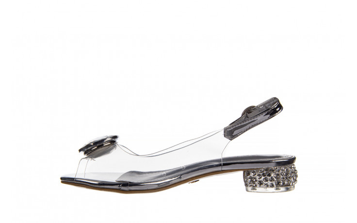 Sandały sca'viola g-15 silver 21 047183, srebro, silikon  - na obcasie - sandały - buty damskie - kobieta 2