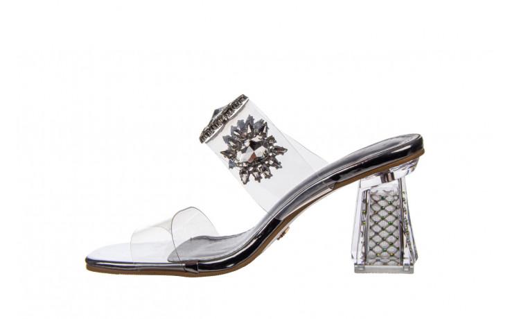 Klapki sca'viola g-58 silver 047188, srebro, silikon  - klapki - buty damskie - kobieta 2