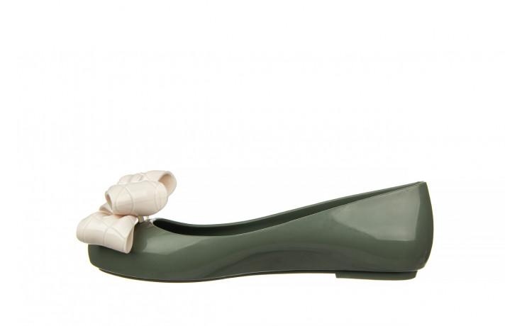 Baleriny melissa sweet love iv ad green beige 010370, zielony, guma 2