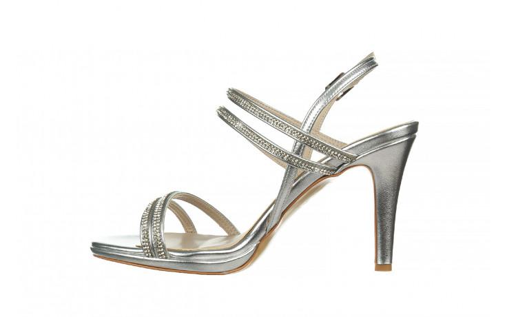 Sandały bayla-187 587-1120 silver 187016, srebro, skóra ekologiczna  - sandały - buty damskie - kobieta 2