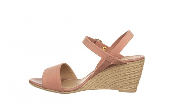 Sandały azaleia 680 242 suede old pink, róż, materiał  - koturny - buty damskie - kobieta 2