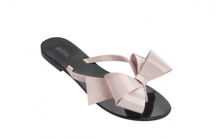 Klapki melissa harmonic bow iii ad black pink, guma - melissa - nasze marki 1