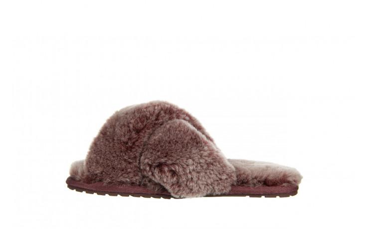 Kapcie emu mayberry frost burnt rust 119131, bordo, futro naturalne  - nowości 2