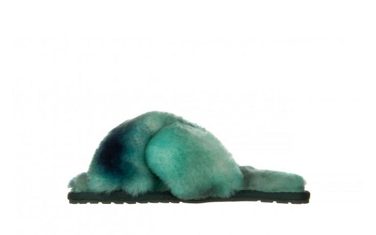 Kapcie emu mayberry tie dye green sea 119138, zielony, futro naturalne  - nowości 2