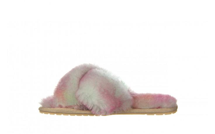 Kapcie emu mayberry tie dye fairly floss 119137, róż, futro naturalne  - nowości 2
