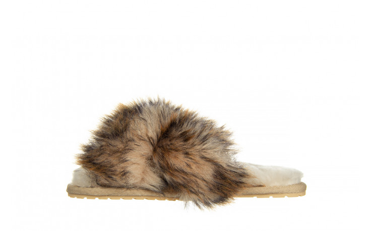 Kapcie emu mayberry lava chestnut 119134, beż, futro naturalne  - trendy - kobieta 2