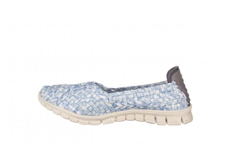 Półbuty rock carioca perena blue smoke 032826, niebieski/ biały, materiał - wsuwane - półbuty - buty damskie - kobieta 2
