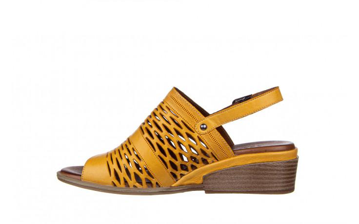 Sandały bayla-161 061 1600 noce 161200, żółty, skóra naturalna  - bayla - nasze marki 2